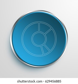 Blue Sign donut chart Symbol icon Business Concept