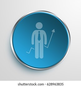 Blue Sign financial manager Symbol icon Business Concept