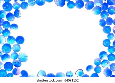 blue silica gel desiccant frame abstract background