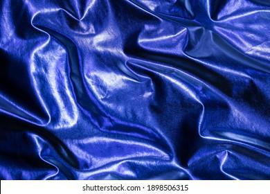 a blue silk fabric background