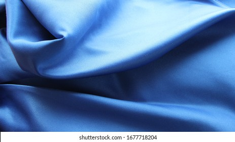 blue silk with smooth folds