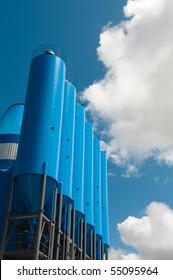 blue silo's