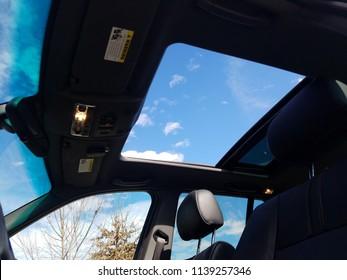 Blue Skies Through Sunroof