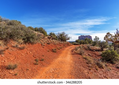 Blue Skies & white clouds in Red Rock Country near Sedona, Arizona. Panoramic vistas. Biking, hiking, & walking trails. Beautiful sunrises & sunsets. Unsurpassed Southwestern landscape colors.