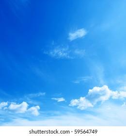 Blue sky.