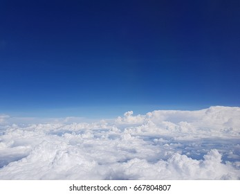 blue sky from above