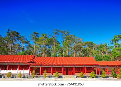 Blue sky above the Temple in Taiwan
