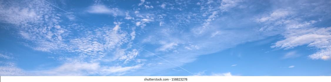 Blue sky background banner