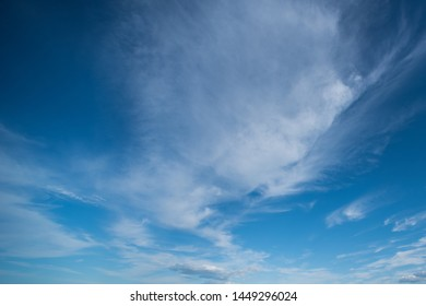 Blue sky background with beautiful white clouds