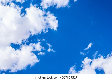 blue sky background with big beautiful white clouds, sunny day photo, fresh air and clean view, bright sky abstract background