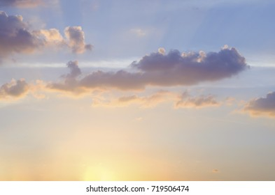 Blue sky background with blue clouds.