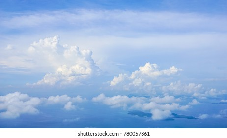 Blue sky background with clouds, Sky nature landscape
