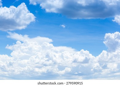 blue sky background with clouds in summer.