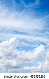 blue sky background with clouds,vertical
