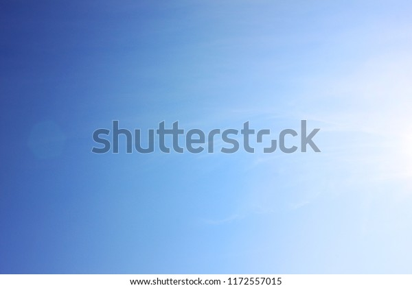 Blue Sky Background Empty Bright Natural Royalty Free Stock Image
