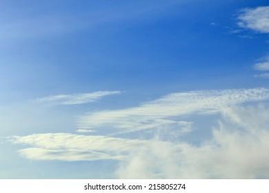 Blue sky, Blue sky background with tiny cloud.