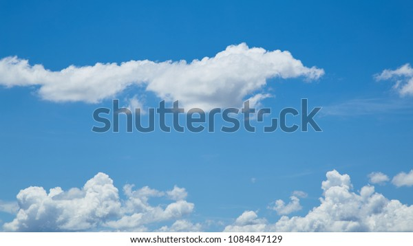 blue sky background with tiny clouds. panorama