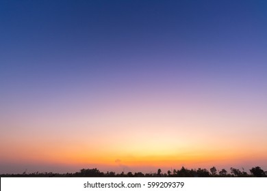 blue sky background with white clouds sunset