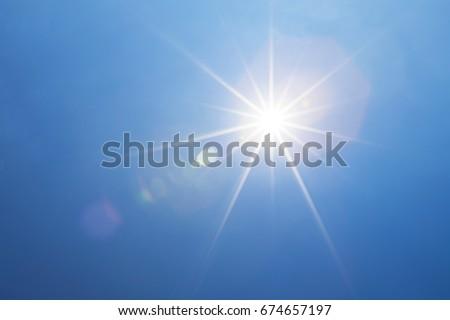 blue sky bright sunshine light beam stock photo edit now 674657197