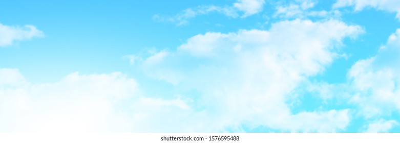 Blue sky and bright white clouds