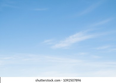 blue sky and cirrus clouds as background