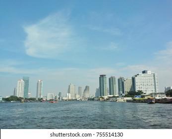 Blue Sky City,Chaphaya River.