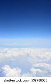 Blue sky and cloud.