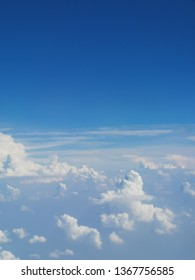 blue sky with cloud from airplane view