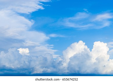 Blue Sky with Cloud Background/ Texture