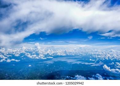 Blue sky cloud background textured - Shutterstock ID 1205029942