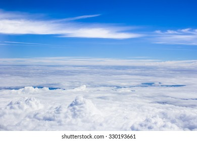 Blue sky cloud from bird eyes view