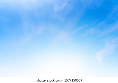 Blue sky with cloud bright at. Border, Thailand - Malaysia