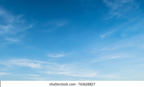 Blue sky with cloud. Clearing day and Good weather in the morning.