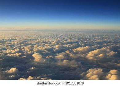 blue sky with cloud closeup and sunl ight