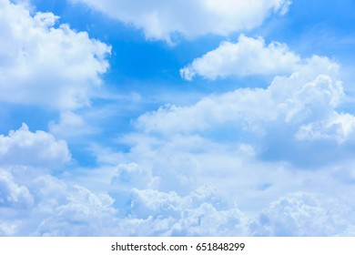 Blue sky with cloud day. It best for background, abstract or blur.