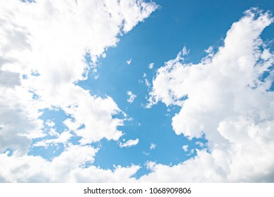Blue sky with cloud in daylight