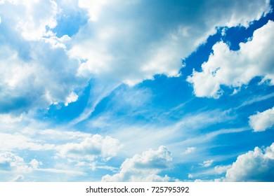 Blue sky with cloud. Nature background. Landscape