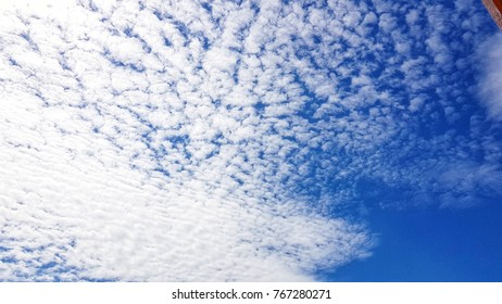 Blue sky with a cloud on the holiday