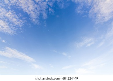 Blue Sky With Cloud on Summer Day.Background of Sky and white Cloud.Natural Sky and fluffy Clouds for design