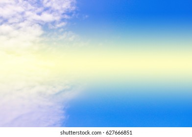 blue sky with cloud soft background