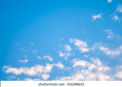Blue sky and cloud in summer.
