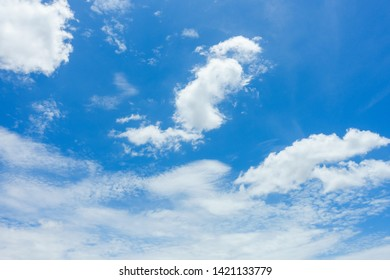 Blue sky with cloud in summer season.