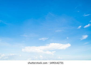 Blue sky with cloud tropical area at Phuket Thailand.