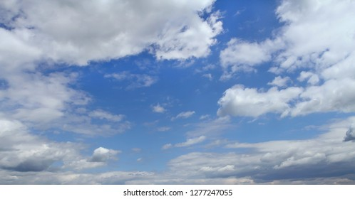 Blue sky in the clouds
