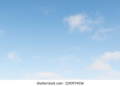 Blue sky clouds.