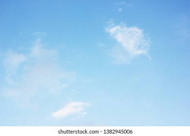 a blue sky with clouds