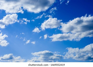blue sky with a lot of clouds