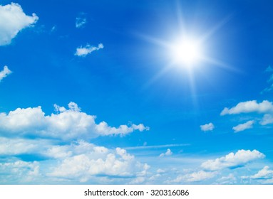 The blue sky with clouds, background - Shutterstock ID 320316086