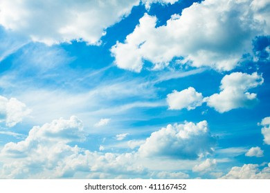 Blue sky with clouds. The sky with clouds for background. Nature background