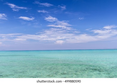 Blue sky and  clouds clear with blue sea andaman background, Vacation,Travel, Koh Rok,Thailand